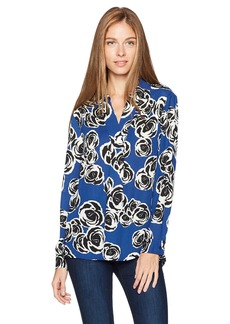 Jones New York Women's Printed L/SLV Tunic with Side Slits  M