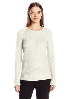 Jones New York Women's Pullover Chain Knit Sweater  S