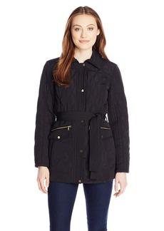 Jones New York Women's Quilted Jacket with Belt