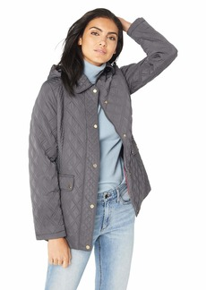 Jones New York Women's Quilted Jacket with Hood  M