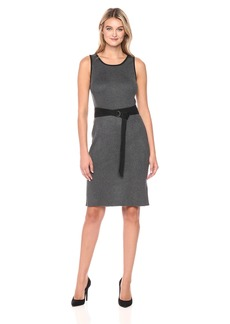 Jones New York Women's Rib Knit Dress with Belt  M