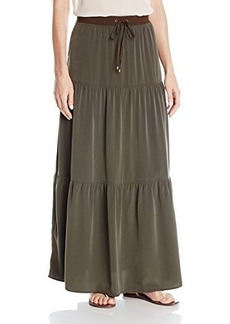 Jones New York Women's Rib Waist Tier Skirt