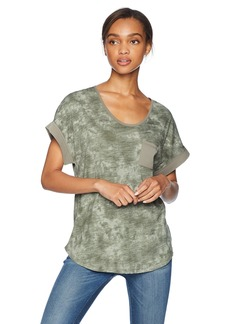 Jones New York Women's Rolled Sleeve with Patch Pocket Light camo M