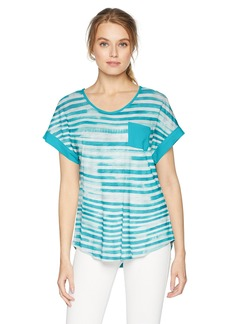 Jones New York Women's Rolled Sleeve with Patch Pocket  M
