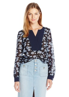 Jones New York Women's Romantic Dot Texture Blouse