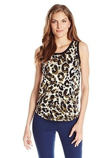 Jones New York Women's Scoop Neck Tank Olive/Multi