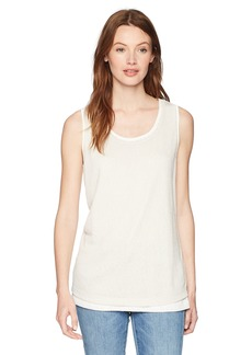 Jones New York Women's Scoop Nk Dbl Layer Tank  L