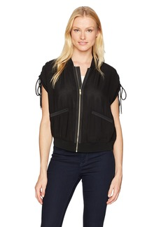 Jones New York Women's Sheer SLV Bomber Jacket  S