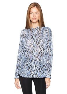 Jones New York Women's Shirred Shirt with Pyramid Stud Detail  XS