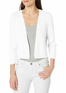 Jones New York Women's Short 3/4 SLV Metal Closure Cardigan  S
