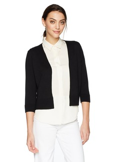 Jones New York Women's Short Open Cardi W/Ottoman Detail  L