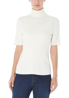 Jones New York Short Sleeve Turtleneck Sweater