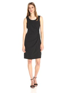 Jones New York Women's Side Zip Shirred Dress