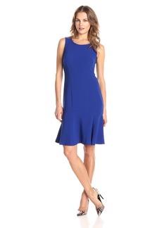 Jones New York Women's Sleeveless Flounce-Hem Dress