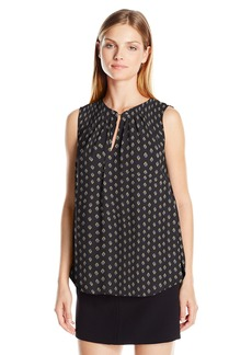 Jones New York Women's Sleeveless Top With Chain Detail