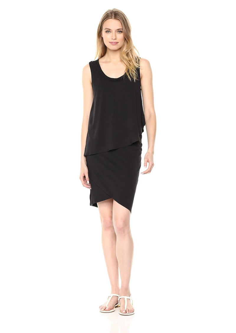 Jones New York Women's Sleeveless Twofer Dress with Braided Neck  XL