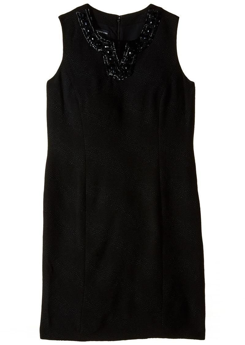 Jones New York Women's Sleeveless V-Neck Sheath Dress