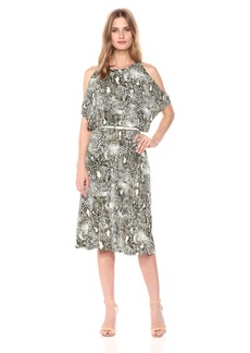 Jones New York Women's Slit Slv Print Wrap Skirt Fit and Flare