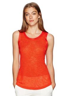 Jones New York Women's Slvless Scoop Nk with Shirt Tail Hem  XL