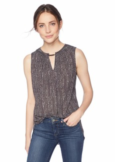Jones New York Women's Slvlss Hi Lo Top W/Keyhole  S