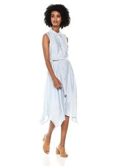 Jones New York Women's Slvlss Striped Handkercief Hem-Shirt