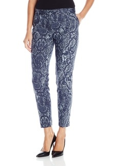 Jones New York Women's Snakeskin Print Grace Ankle Pant