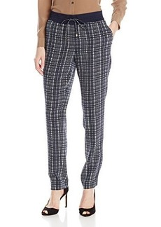 Jones New York Women's Soft Trapunto Track Pant