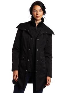 Jones New York Women's Stretch Fabric Rain Jacket