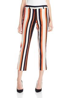 Jones New York Women's Stripe Dobby Texture Ankle Pant