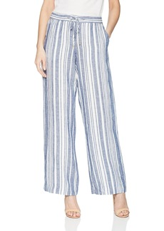 Jones New York Women's Stripe Linen Easy Pant