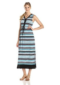 Jones New York Women's Sleeveless Colorblock Maxi Dress