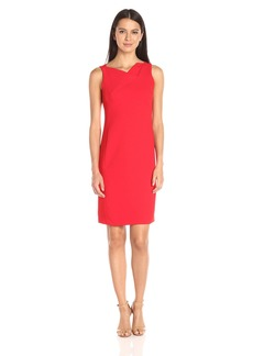 Jones New York Women's Textured Crepe Cowl Neck Dress