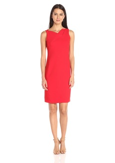 Jones New York Women's Textured Crepe Cowl Neck Dress