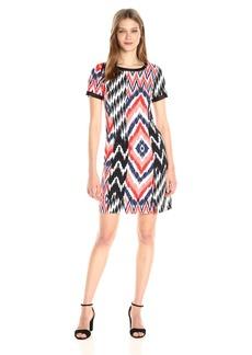 Jones New York Women's Tshirt Dress W Rib Trim