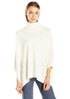 Jones New York Women's Turtleneck Poncho Sweater