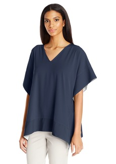 Jones New York Women's V Nk Square Top  L
