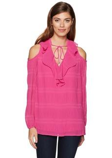 Jones New York Women's Vintage Pleat Cold Shoulder Top  XL