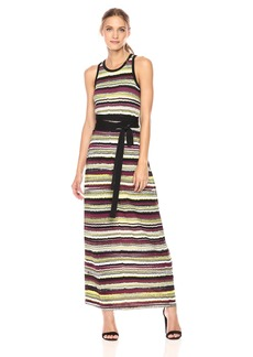 Jones New York Women's Vista Stripe Prt Maxi Dress W/Tie Waist  M