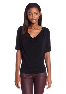 Jones New York Women's Petite Vivian Ity Elbow Sleeve Drape Neck