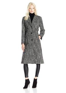 """JONES NEW YORK Women's Wool Tweed 45"""" Length Coat w/Side Vents"""