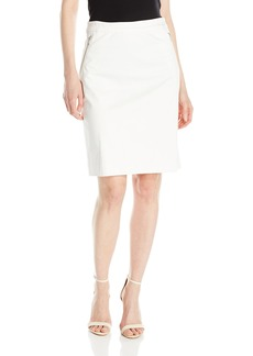 Jones New York Women's Zipper Pencil Skirt with Curved Seam