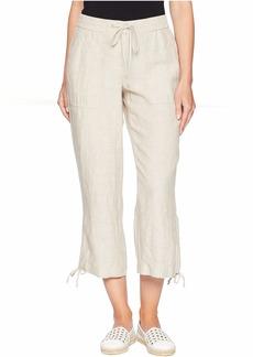 Jones New York Linen Easy Crop Pants w/ Ties