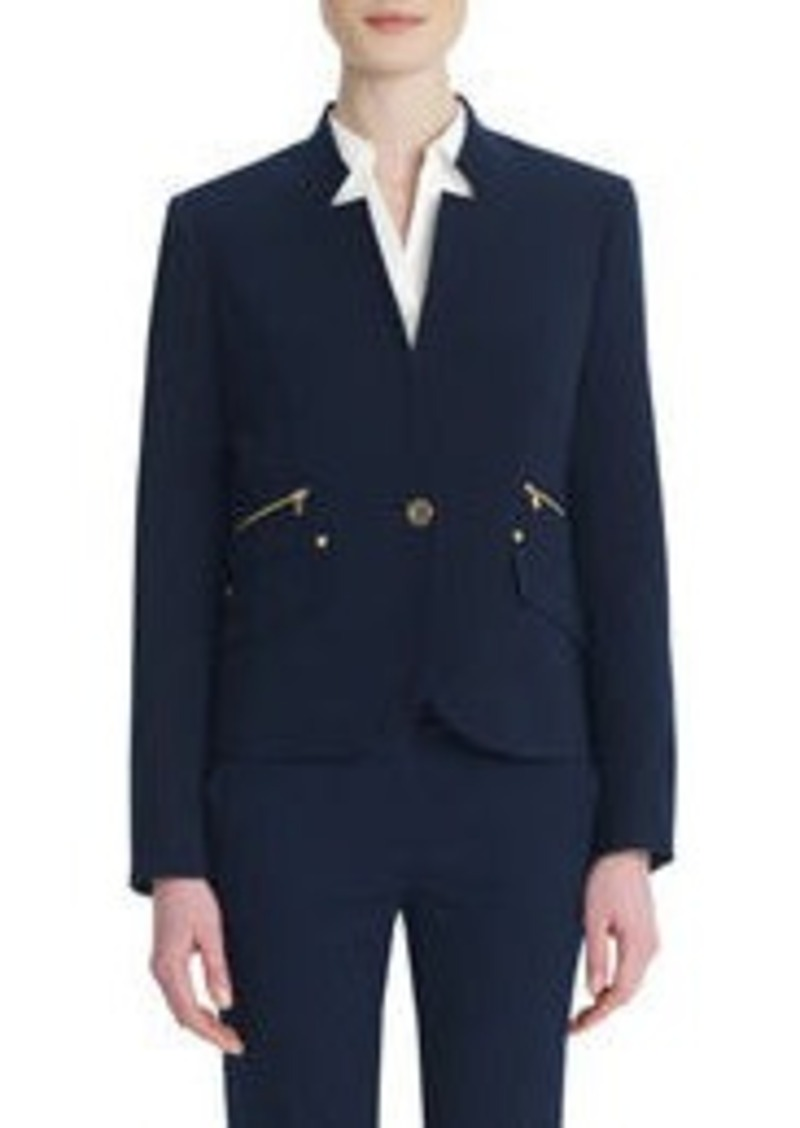 Jones New York One-Button Blazer with Rivet Details