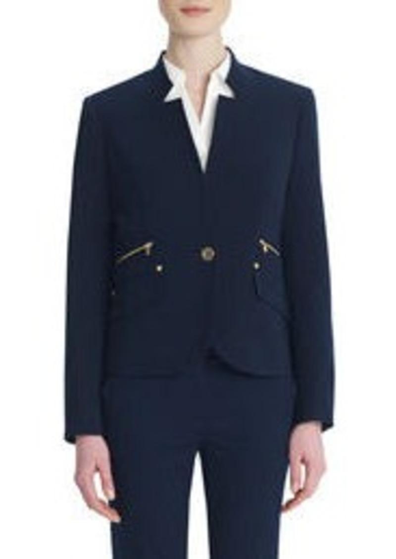 Jones New York One-Button Blazer with Rivet Details