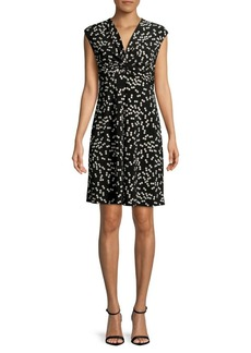 Jones New York Printed Twisted Front Dress