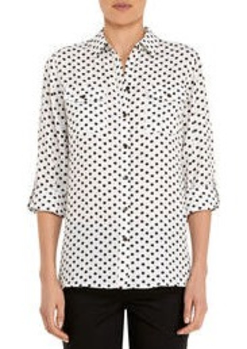 Jones New York Safari Shirt with Roll Sleeves (Petite)