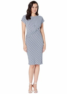 Jones New York Short Sleeve Twist Dress