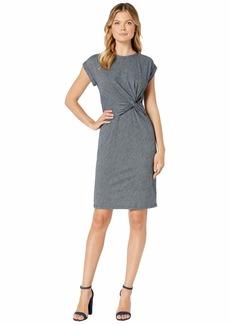 Jones New York Short Sleeve Twist T-Shirt Dress