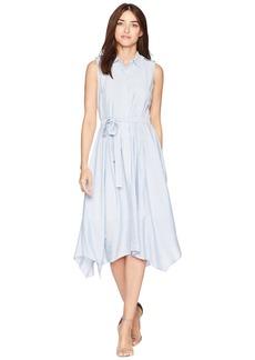 Jones New York Sleeveless Striped Handkercief Dress