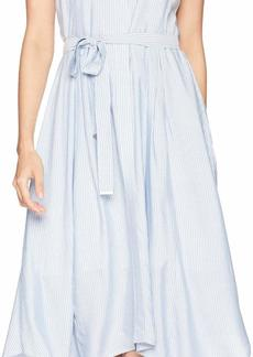 Jones New York Sleeveless Striped Handkercief Dress